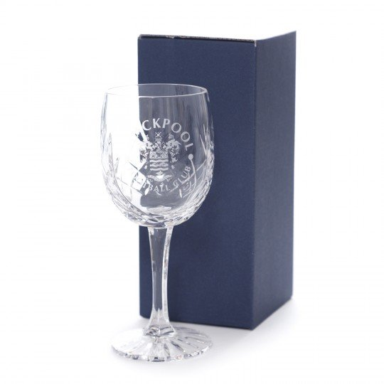 Engraved Crest Wine Glass