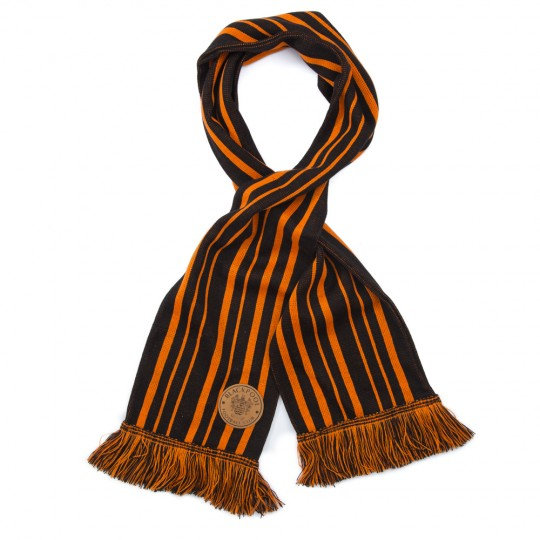 Black and Tangerine Striped Scarf