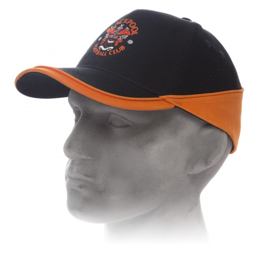 Black and Tangerine Baseball Cap