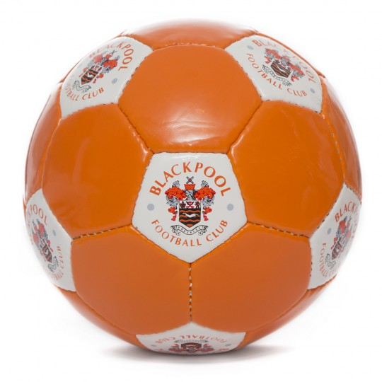 Tangerine Panel Football with Crest