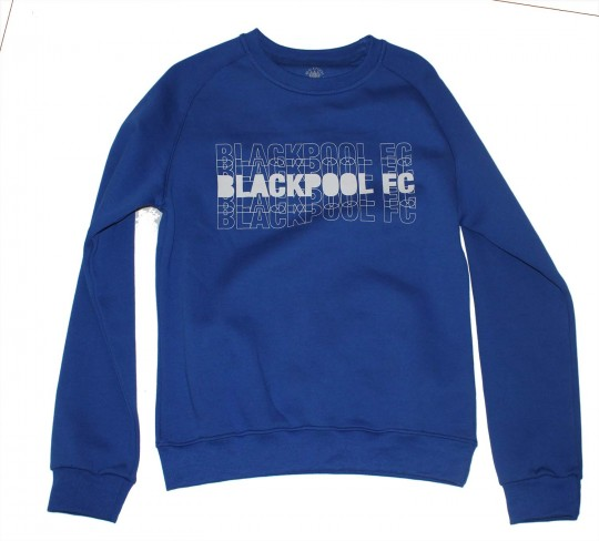 Adult Sweat Top Two Tone Blackpool FC Royal Blue
