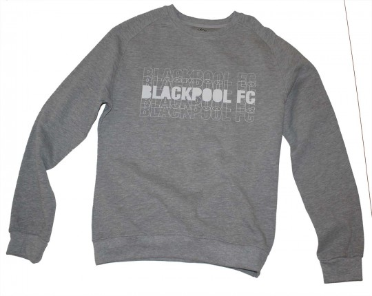 Adult Sweat Top Two Tone Blackpool FC Grey