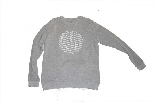 Adult Sweat Top Grey BFC Circle Logo