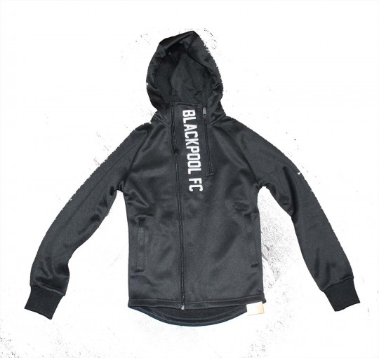 Junior Hoodie Blackpool FC Double Zip Black