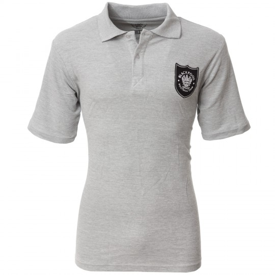 Adult Polo Shield Crest Grey