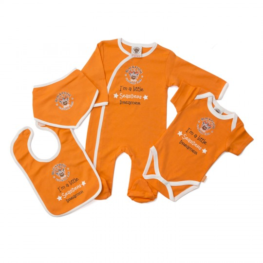 Babywear 4 Pack Tangerine and White