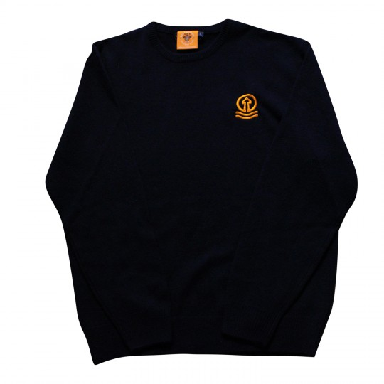 Navy Round Neck Jumper with Tower Logo