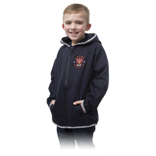 Junior Ultra Hoodie Navy with embroided Crest