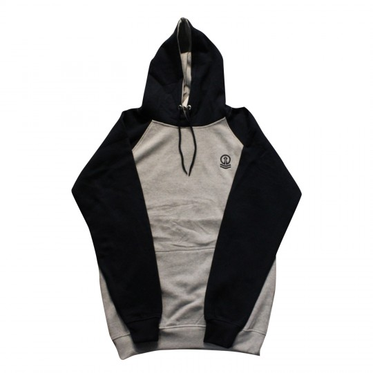 Ladies Hoodie Navy & Grey with Navy Tower