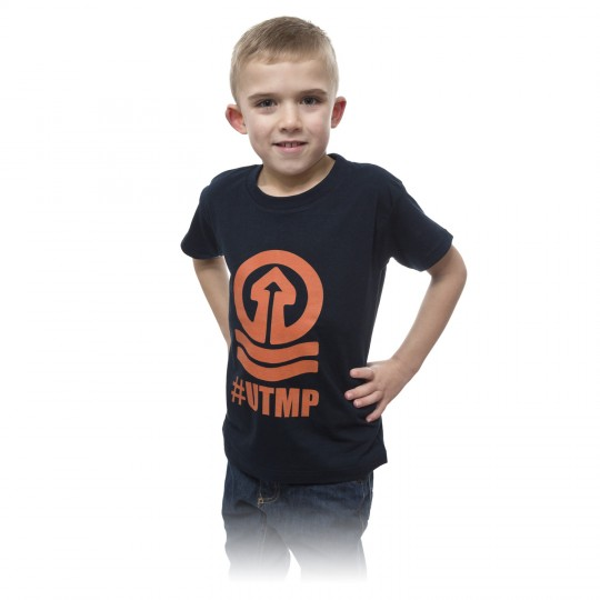 Junior T Shirt Navy Tower Logo