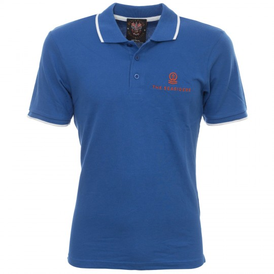 Crescent Polo Royal Blue/White