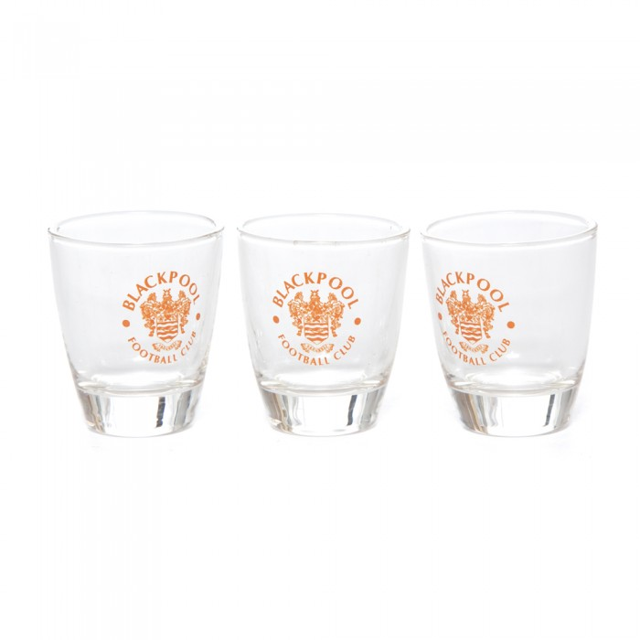 Shot Glass Set Of 3 With Crest