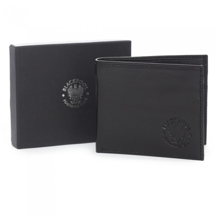 Black Crest Leather Wallet Boxed