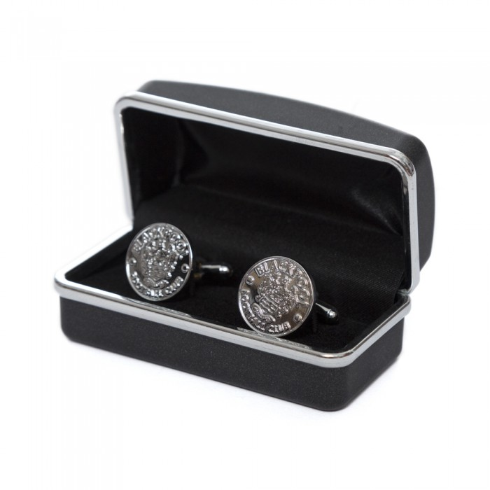 Metal Crest Cufflinks Boxed