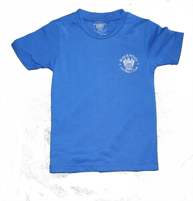 Adult T Shirt Royal Blue Small Embroided Crest