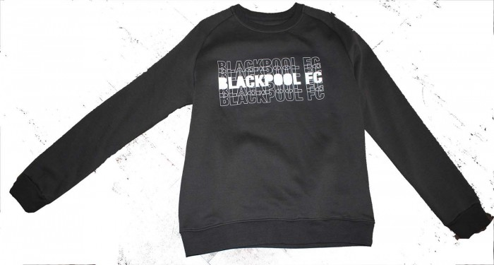 Adult Sweat Top Two Tone Blackpool FC Black