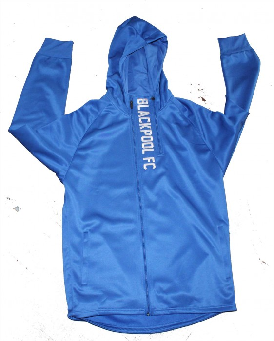 Junior Hoodie Blackpool FC Double Zip Royal Blue