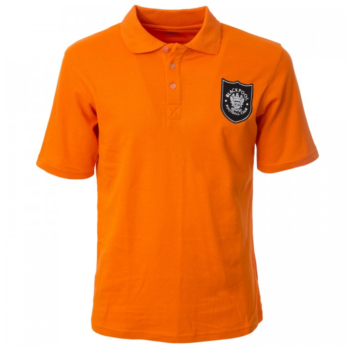 Adult Polo Shield Crest Tangerine