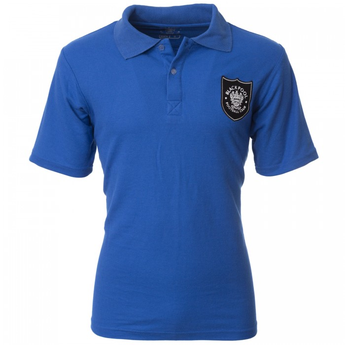Adult Polo Shield Crest Royal Blue