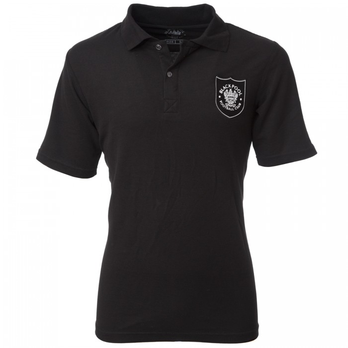 Adult Polo Shield Crest Black