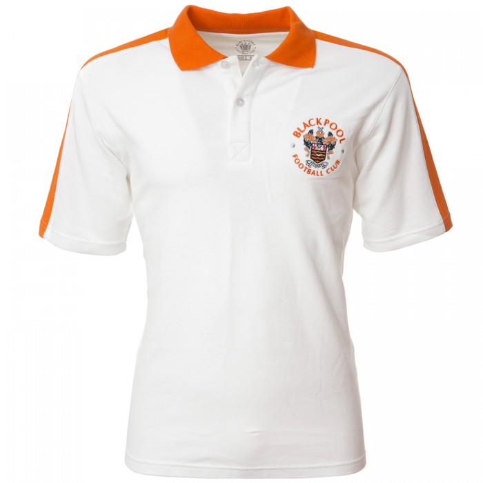 Adult Polo White with Tangerine Shoulders