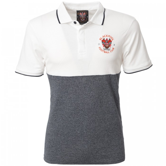 Adult Polo Half White and Charcoal