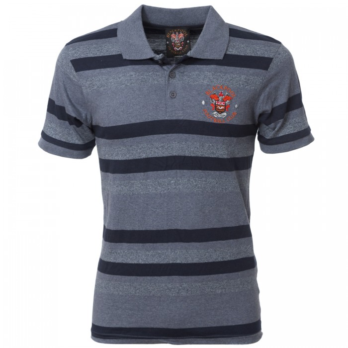 Adult Polo Striped Blue