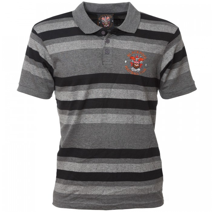 Adult Polo Striped Black