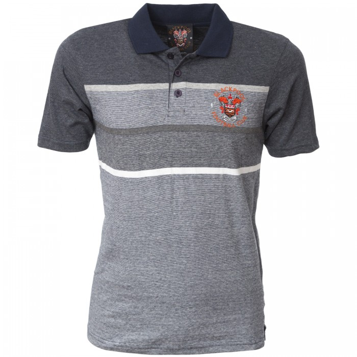 Adult Polo Thin Striped Navy