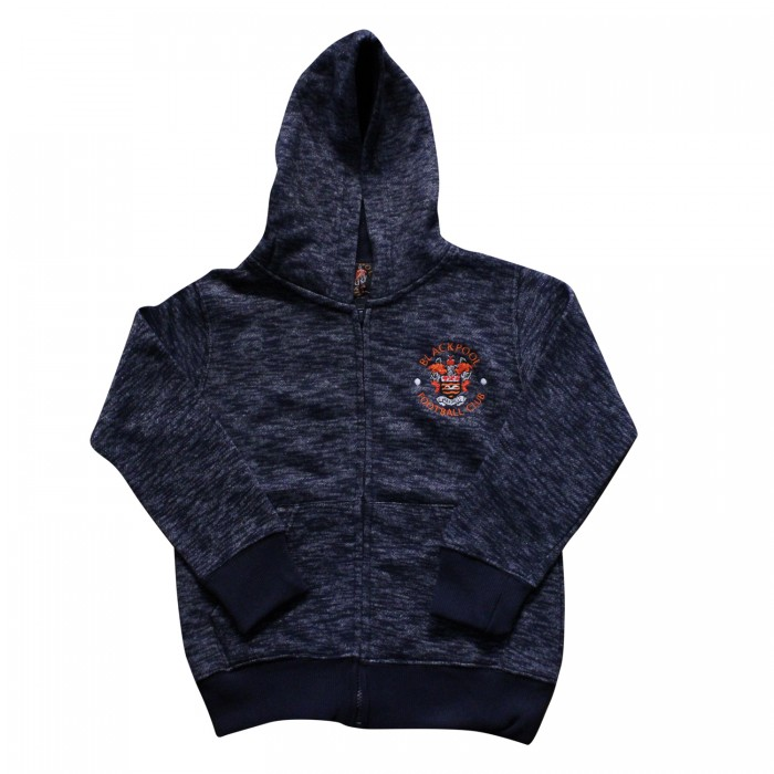 Junior Brooklyn Hoodie Navy with embroided Crest