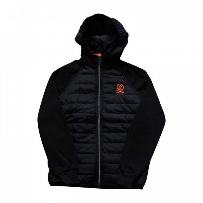 Junior Hybrid Jacket Black with Tower Logo
