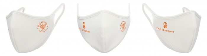 Blackpool FC Face Mask White Tower Logo
