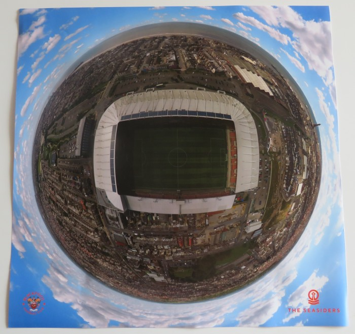 Drone Large Canvas of Bloomfield Road
